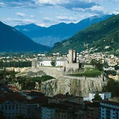 Bellinzona, Switzerland / The castles at Bellinzona I visited on a hike with my son in the past. Memorable to me were the views of these castles on the beautiful city of Bellinzona.