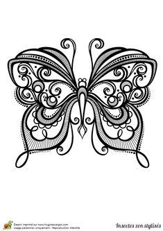 Dessin à colorier d'un superbe papillon - Hugolescargot.com