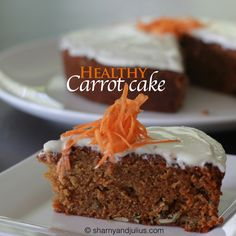 Healthy (but delicious) Carrot Cake Healthy Junk Food, Healthy Fit, Healthy Foods, Healthy Living, Paleo Recipes, Cooking Recipes, Delicious Recipes, Sharny And Julius, Healthy Carrot Cakes