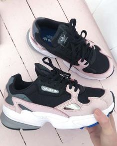 c95bca1afaea7b Adidas Falcon Trainers Core Black Light Pink - Hers trainers