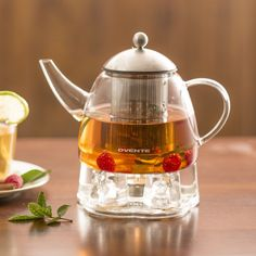 Ovente 44-ounce Glass Tea Pot with Warmer   Overstock.com Shopping - The Best Deals on Electric Tea Kettles