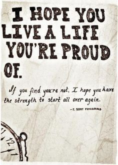 F. Scott Fitzgerald- I think he wrote this to his daughter, Scotty.