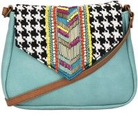 Fastrack Girls Casual Green PU Sling Bag at DealsPricer India