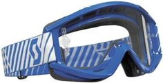 2014 Scott Recoil Xi Pro Blue Clear Works Dirt Bike Off-Road Motocross Goggle