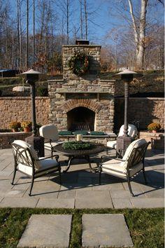 Outdoor Fireplace - Home and Garden Design Ideas