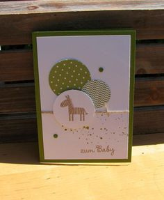 Karte zum Baby grün von Smilland auf DaWanda.com