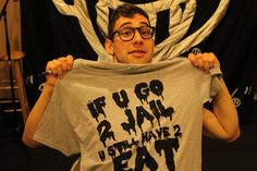 Jack Antonoff and the infamous Jail Dinner T shirt. ($20 + shipping on Etsy)