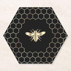 Different Bees, Plan Bee, Honey Brand, Bee Painting, Bee Honeycomb, Bee Cards, Coaster Design, Bee Gifts, Bee Design