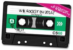 """""""Musik on!"""" Verrate Dein Motto für 2014 + Lieblingskassettenmotiv bei www.dayogo.de"""