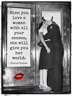 Love a woman with all your senses