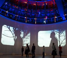 Ron Arads cylindrical cinema screen made of 5600 silicon rods opens at the Roundhouse in London today. Museum Exhibition Design, Exhibition Display, Exhibition Ideas, Ron Arad, Michelangelo Antonioni, Open Cinema, Stage Design, Theatre Design, Set Design