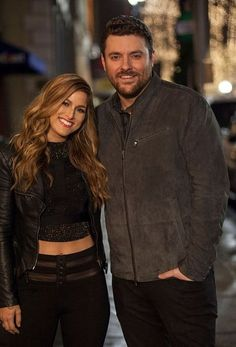 Chris Young & Cassadee Pope, Cassadee Pope and Chris Young on the set of the…