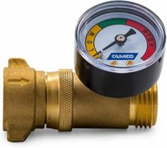 Camco Brass Water Pressure Regulator with Gauge- Helps Protect RV Plumbing and Hoses from High-Pressure City Water - Easy Read Gauge, Lead Free Travel Trailer Camping, Camping Life, Rv Camping, Camping Kitchen, Camping Cooking, Outdoor Camping, Camp Trailers, Rv Trailer, Camping Gadgets
