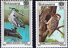 Postage Stamps Botswana 1981 Birds Surcharged Set Fine Mint Stamps For Sale Take a Look