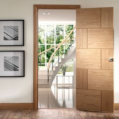 Door Set Kit, Ravenna Oak Flush Door - Prefinished. #doorsetskits #oakdoorsetkit #prefinsiheddoorsetkit