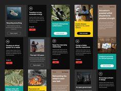 Spotlight cards designed by Matt Legrand. User Interface Design, Ui Ux Design, Graphic Design, Web Layout, Layout Design, Open Project, Web Patterns, Ui Design Inspiration, User Experience Design
