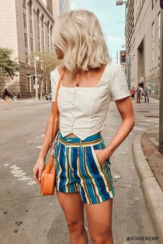 Product Name:Striped Stretch-Denim Shorts, Category:CLEARANCE_ZERO, Price:17.9