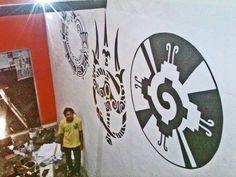 Mural at Suku-Suku Tatau Studio Kuta - Bali, Indonesia