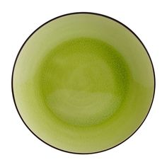 Japanese Style 10 inch Round Coupe Plate Golden Green/Case of 12