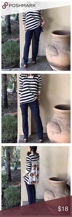 🆕 navy blue fold waist pants Navy blue fold waist pants PLEASE Use the Poshmark new option you can purchase and it will give you the option to pick the size you want ( all sizes are available) BUNDLE and save 10% ( no trades price is firm unless bundled) Pants