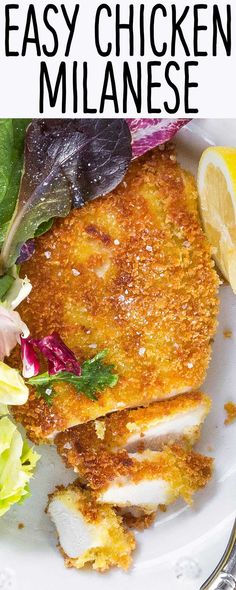 Classic Italian Chicken Milanese is surprisingly EASY and FAST to make at home. Serve with a side salad for an easy weeknight meal. Make-ahead options.