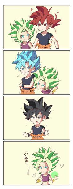 Transformaciones de Goku vs Kefura SS Legendario
