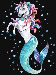 Mermaid unicorn art | Unicorn drawing, Unicorn tattoos ...