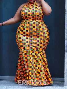 Top 30 plus size fashion for African women - isishweshwe African Maxi Dresses, Latest African Fashion Dresses, African Dresses For Women, African Print Fashion, African Attire, African Women, Curvy Outfits, Plus Size Outfits, Ladies Day Dresses