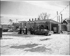 Schmidt's APCO Station 202 8th 1950's  Photo courtesy of Hays Public Library -- Hays, KS