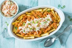 Pulled Chicken, Pulled Pork, Comfort Food, Vegetable Pizza, Chicken Recipes, Recipies, Food And Drink, Menu, Pasta