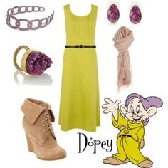 Disney inspired outfits- Okay I have seen a couple of somewhat cute dwarf outfits but this one is my fav! #ideas to wear at disneyland :)