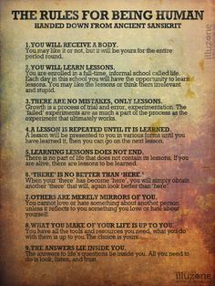 The 9 Rules For Being Human - Handed Down From An Ancient Sanskrit 1