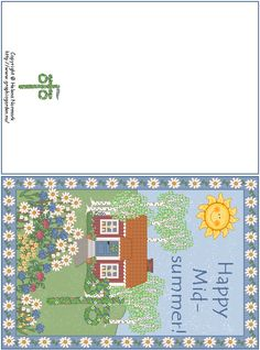 Free Mid-Summer Card download via GraphicGarden.com
