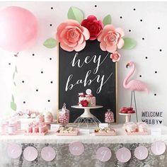 Hey Baby! Vamos organizar! Rss [mesa simples e fofa ] #party #festa #inspiração #decor #organizesemfrescuras