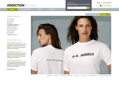 Aydus- Addiction Tee Web Design Concept via Executionists
