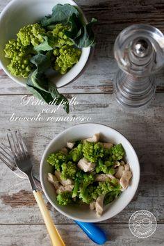 Petto di pollo con broccolo romanesco
