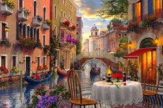 Venice Restaurant by Dominic Davison...<3