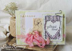 Tattered Tangels - Tattered Angles Grateful Heart Card www.sheilarumney.com