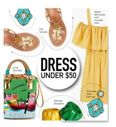 """""""Dress Under $50"""" by serepunky ❤ liked on Polyvore featuring MANGO, Suzanna Dai, Relaxfeel, H&M, summerfashion and Dressunder50"""
