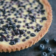 Nordic Blueberry Tart with Rye