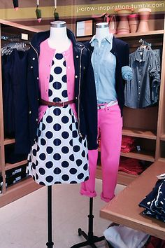 J.crew Spring - 2013  Spring 2013 Fashion Trends: polka dots + graphic black and white -Spring outfit idea