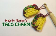 Taco Charm on the Rainbow Loom Made By Mommy Tutorial