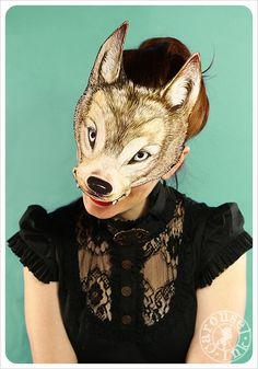WOLF Mask by Carousel Ink  Victorian Paper MASK  by Carouselink, $15.00
