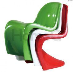 La #silla #Panton creada en 1967 por Verner Panton para #Vitra en todas sus posibilidades
