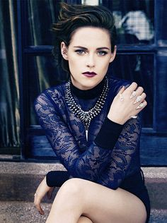 """""""The public kind of burned me at the stake. But that's OK. I can take it. I'm not dead.""""  - Kristen Stewart on Marie Claire US (Aug)"""