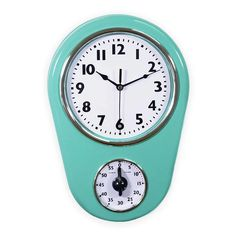 Bring style and functionality together in your kitchen with this innovative Kitchen Timer Retro Modern Wall Clock. With a durable ABS thermoplastic casing and a convex glass crystal lens, this piece is sure to last. It even has a handy time. Wall Desk, Desk Clock, Kitchen Wall Clocks, Kitchen Timers, Retro Vintage, Vintage Style, Retro Style, Kitchen Gifts, Good Sleep