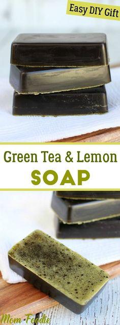 Green Tea Lemon Soap Recipe  Easy DIY gift idea #soapmakingbusinessetsy