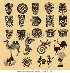Find African Seth African Infographics Tribal Set stock images in HD and millions of other royalty-free stock photos, illustrations and vectors in the Shutterstock collection. Thousands of new, high-quality pictures added every day. Tribal Art Tattoos, African Tribal Tattoos, Kunst Tattoos, Tribal African, African Tribal Patterns, African Women, Arte Tribal, Afrika Tattoos, African Symbols