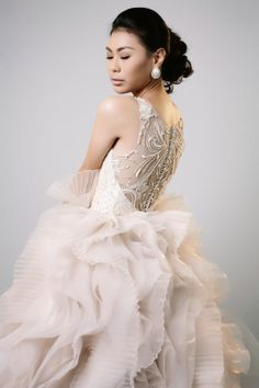 Back detail, Wedding Gown Bridal Wear Bridal Gowns, Wedding Gowns, Bridal Collection, Mermaid Wedding, Detail, How To Wear, Fashion, Bride Dresses, Homecoming Dresses Straps