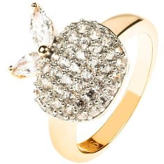Latelita London - The Forbidden Apple Ring White (£31) ❤ liked on Polyvore featuring jewelry, rings, white jewelry, white ring and petite jewelry